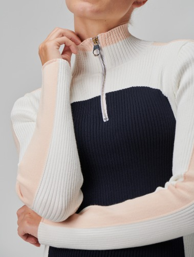 ZIPPED-COLLAR SKI SWEATER - CHLOÉ X FUSALP